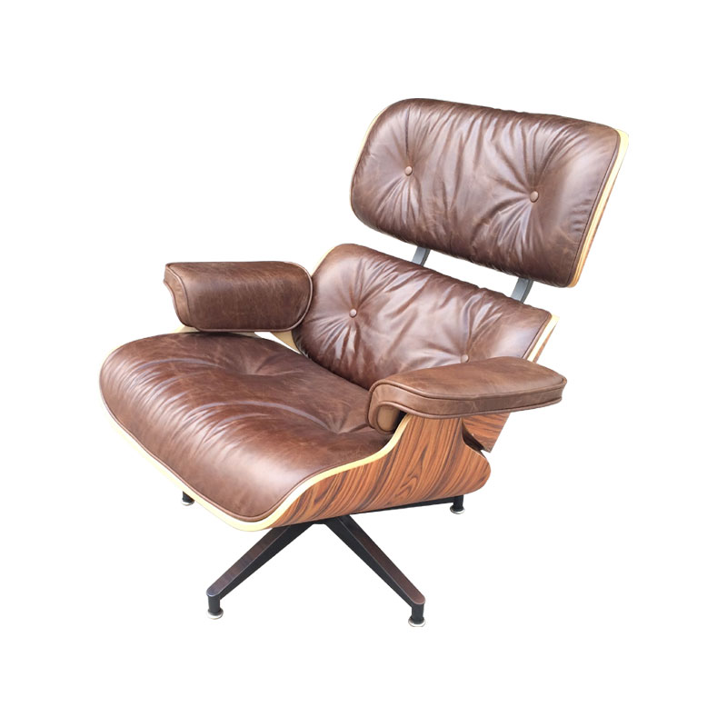 Eames Lounge Chair and ottoman Replica FA331-AAL in Premium Antique Aniline Leather