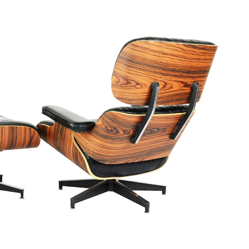 eames lounge chair and ottoman replica in premium aniline leather and rose wood