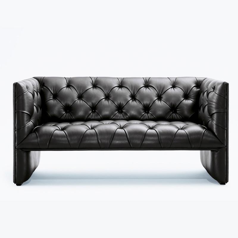 Edwards Loveseat 2 seater sofa in Premium Aniline leather FA172-2S-ANL