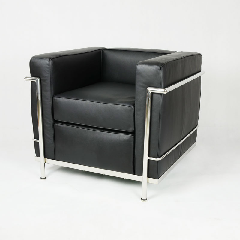 Le Corbusier LC2 Armchair replica in Italian Leather FA020-1S-ITL