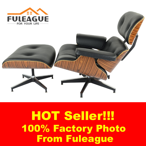 Eames Lounge Chair in Faux PU Leather FA021-PU