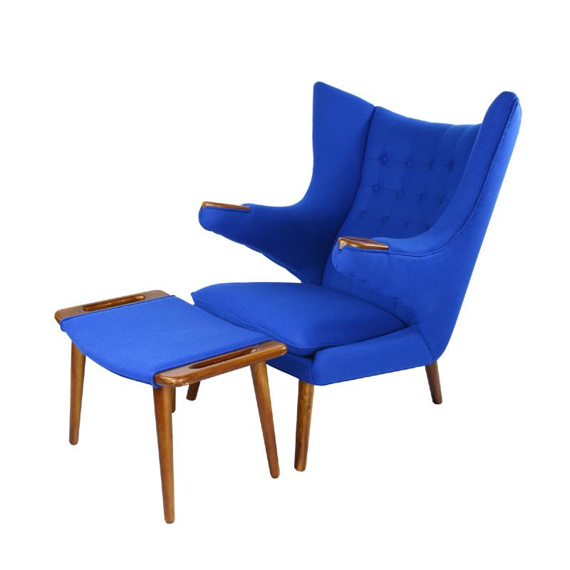 Papa Bear Chair And Ottoman Replica in Cashmere FA060-1S-CM