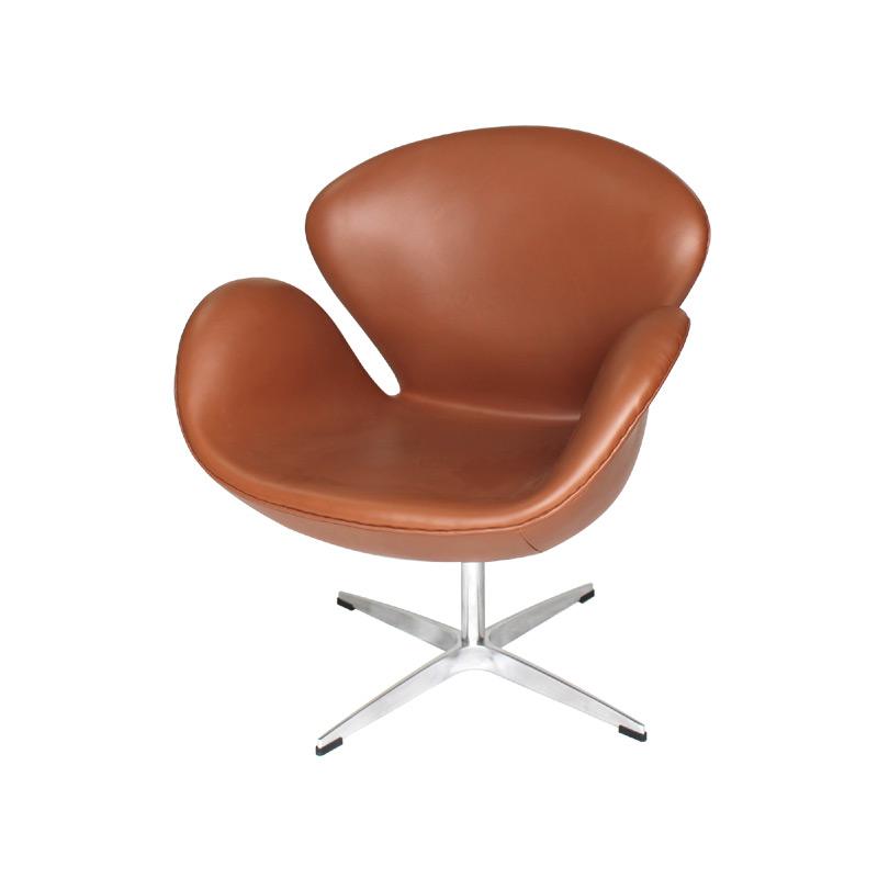 Swan Chair Replica in Full Aniline Grain Leather FA035-ANL