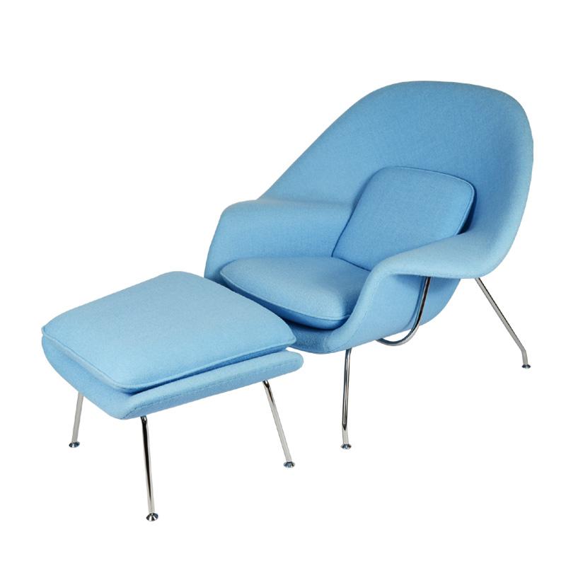 Womb Chair And Ottoman Replica in Cashmere FA040-CM