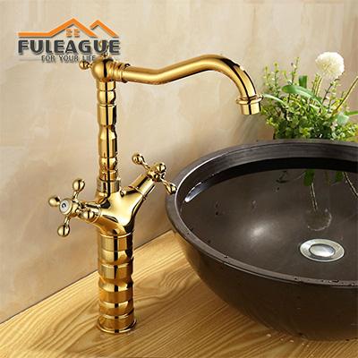 European Ancient Bright Copper Faucet FKB006