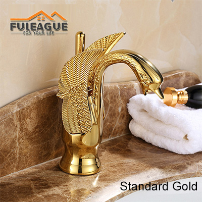 European Luxury Swan Bright Copper Faucet FKB009