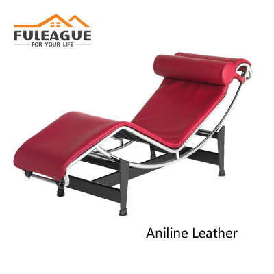 Le Corbusier LC4 Chaise Lounge Chair in Aniline Leather FA016-ANL