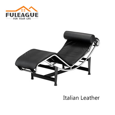 LC4 Chaise Lounge by Le Corbusier in Italian Leather FA005-ITL
