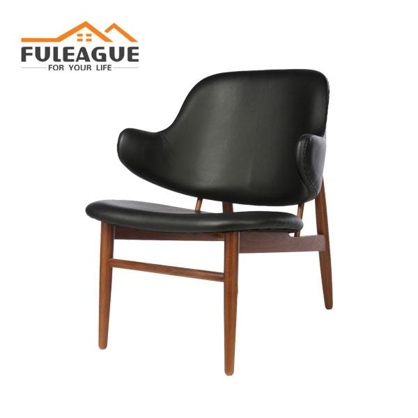 IB Kofod-Larsen Easy Chair FA074 in Faux PU Leather
