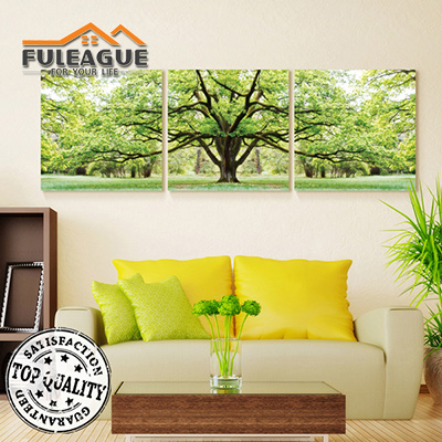 Evergreen Tree Frameless Painting 1 SET FPP002