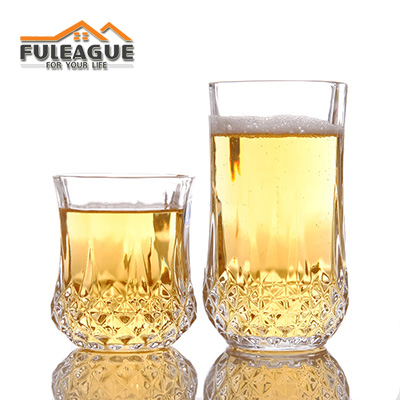Lead-free Glass Beer Wine Cup 6 PCS/SET FWC007