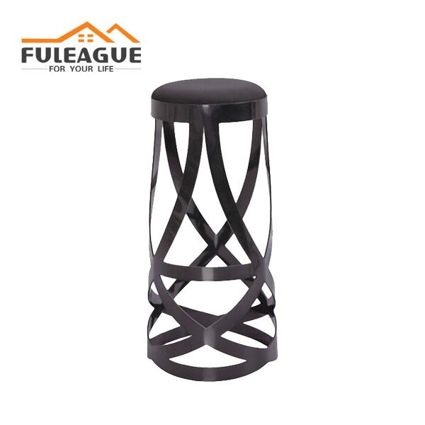 Nendo Ribbon Bar stool with soft cushion FBS038-A
