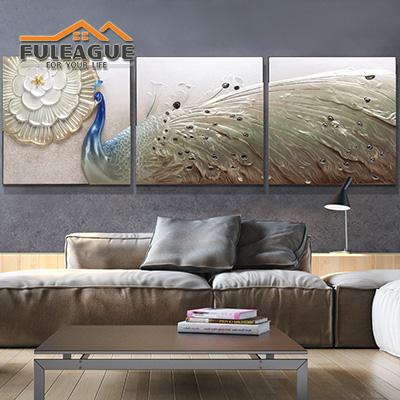 Gold Peacock Stereograph Frameless FPP031-G