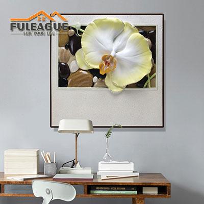 Butterfly Flower Stereograph Frameless FPP034